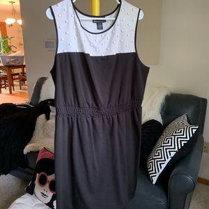 Stretchy cute two tone dress